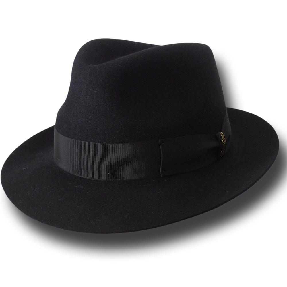 e26d6e59851f2 Borsalino Fedora Alessandria Hat unlined Black