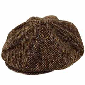 Hanna Hats Connery Gatsby tweed Malone Cap 8 pieces