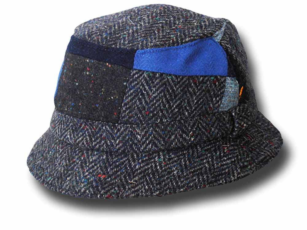 Hatman of Ireland Bucket patchwork Tweed Hat B