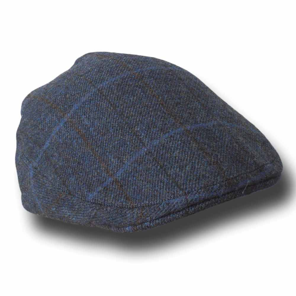 Lawrence and Foster tweed cap Garforth Blue