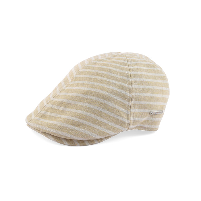 Summer linen cotton striped Cap
