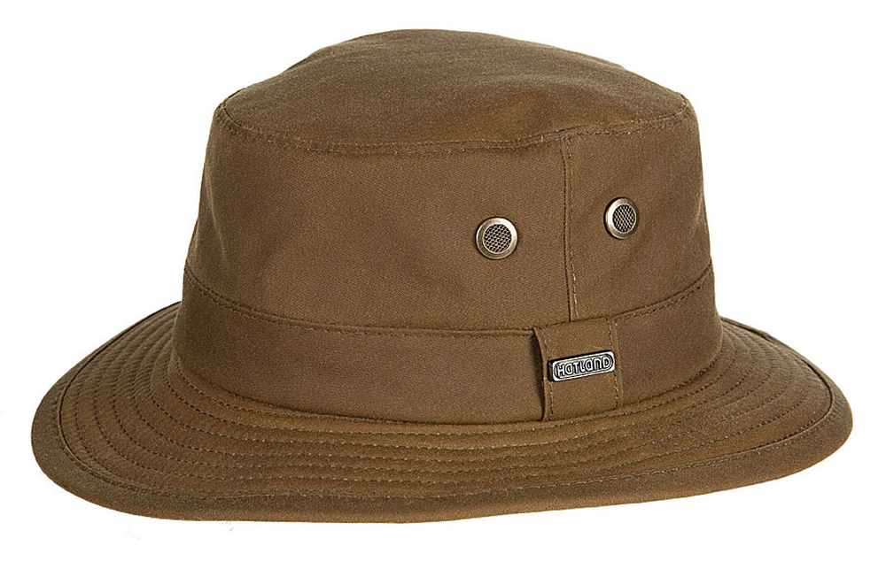 Hatland Cappello Ledyard Wax Cotton hat impermeabile 2