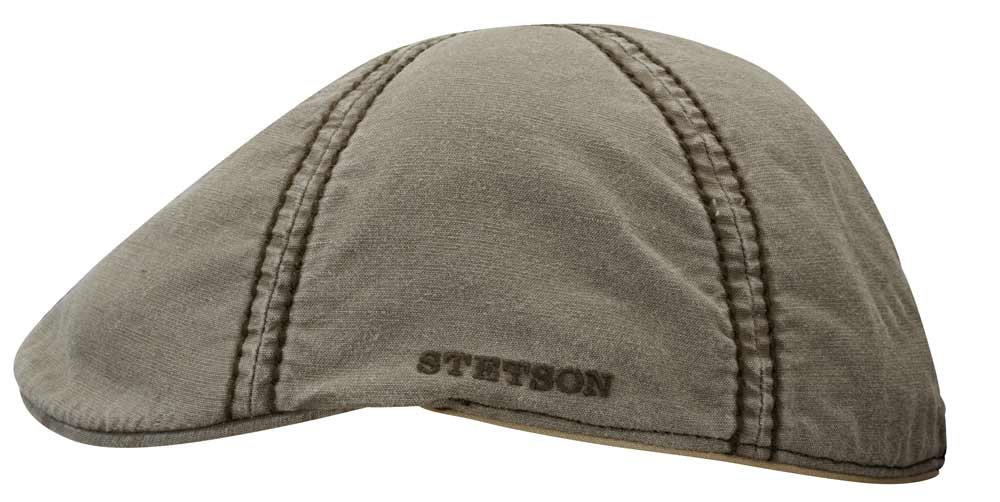 Texas washed Cotton and linen Flat Cap Stetson