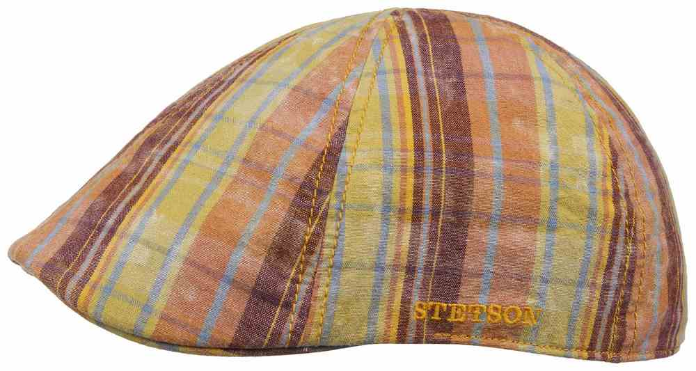 Texas washed Check  Flat Cap by Stetson