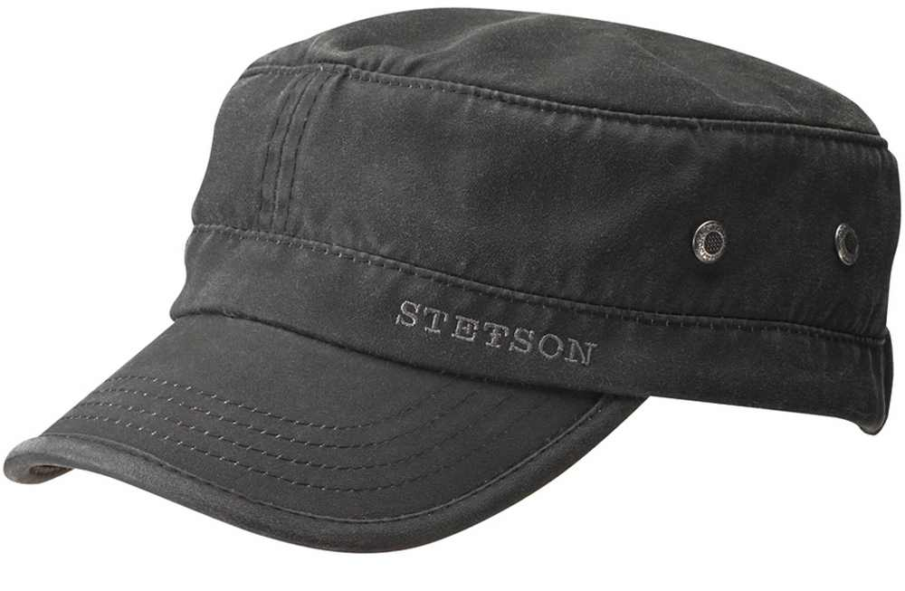 Berretto Stetson Datto cotton distressed army cap