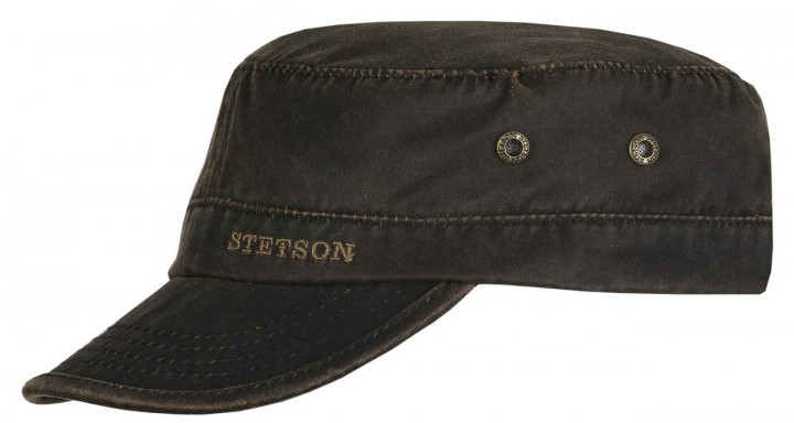 Berretto Stetson Datto cotton distressed army