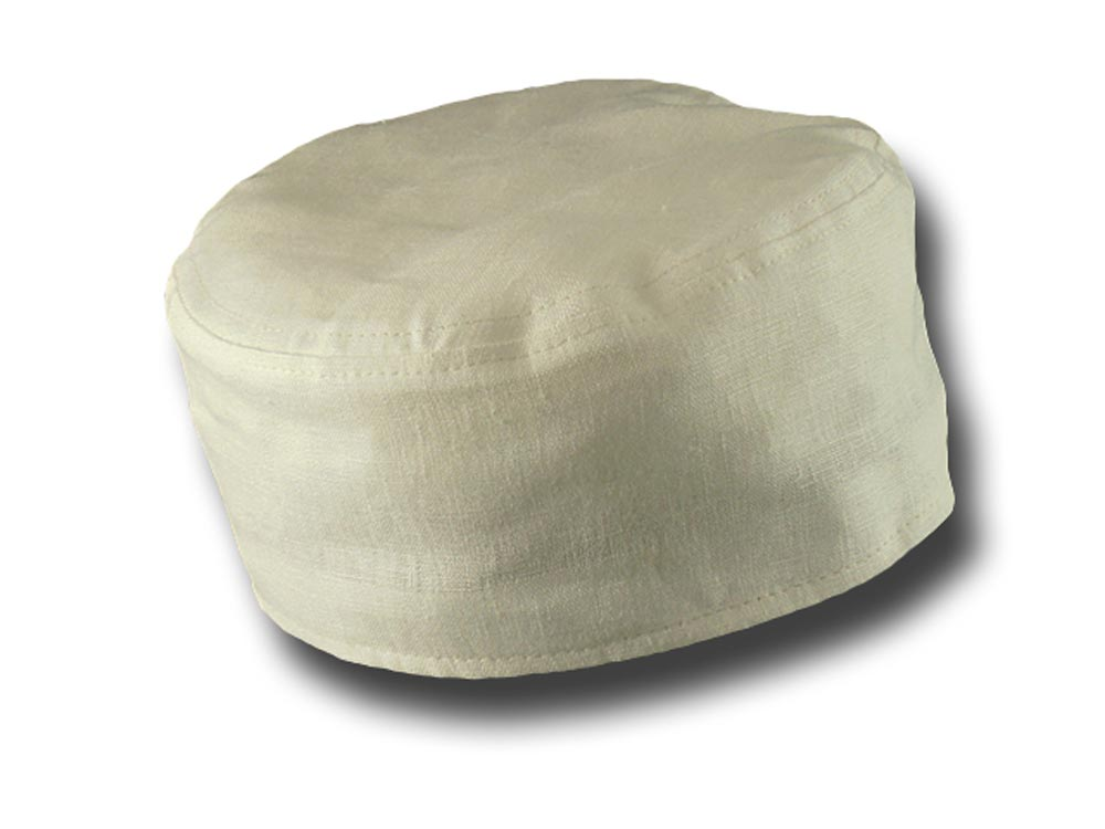 Fez cap linen unlined pocket