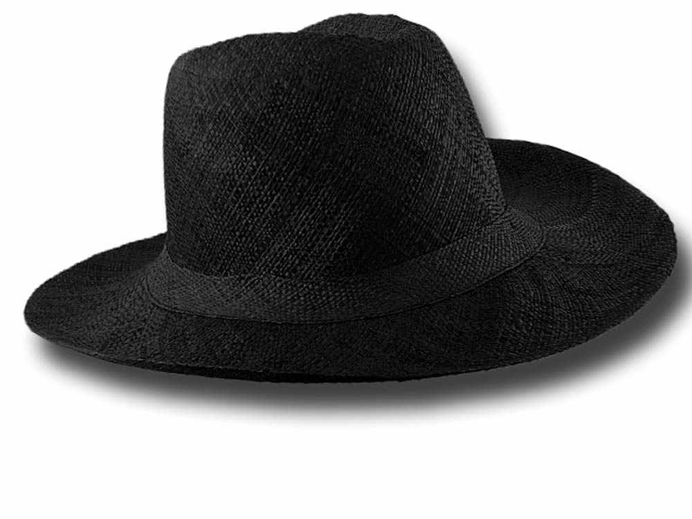 Fold straw hat medium brim Menton1