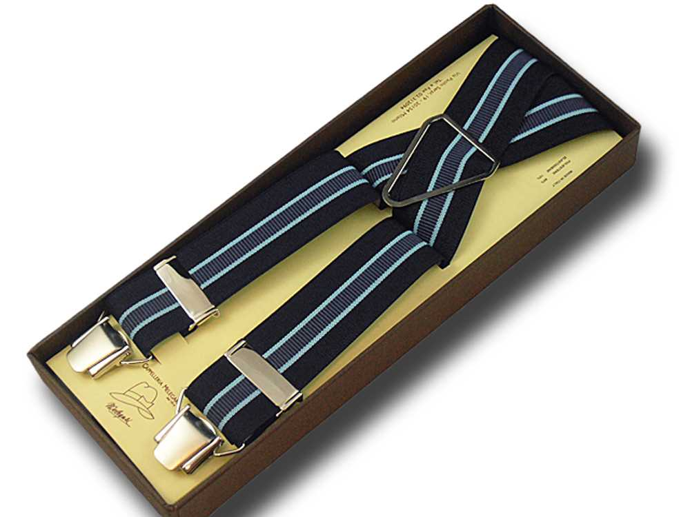 Bretelle uomo donna larghe 3,6 cm Regimental 1