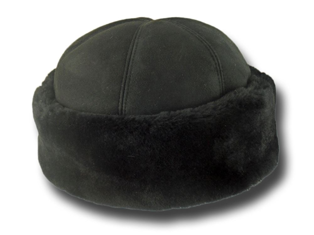 Ushanka hat woman in sheepskin