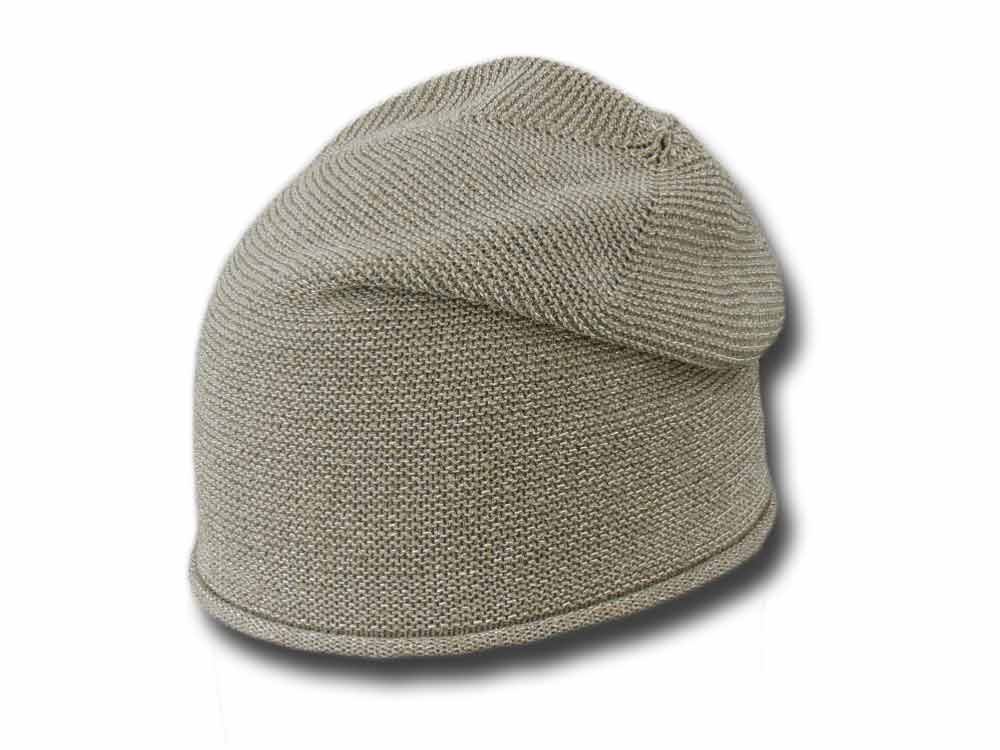 Summer Lurex Jersey cotton woman hat Gold