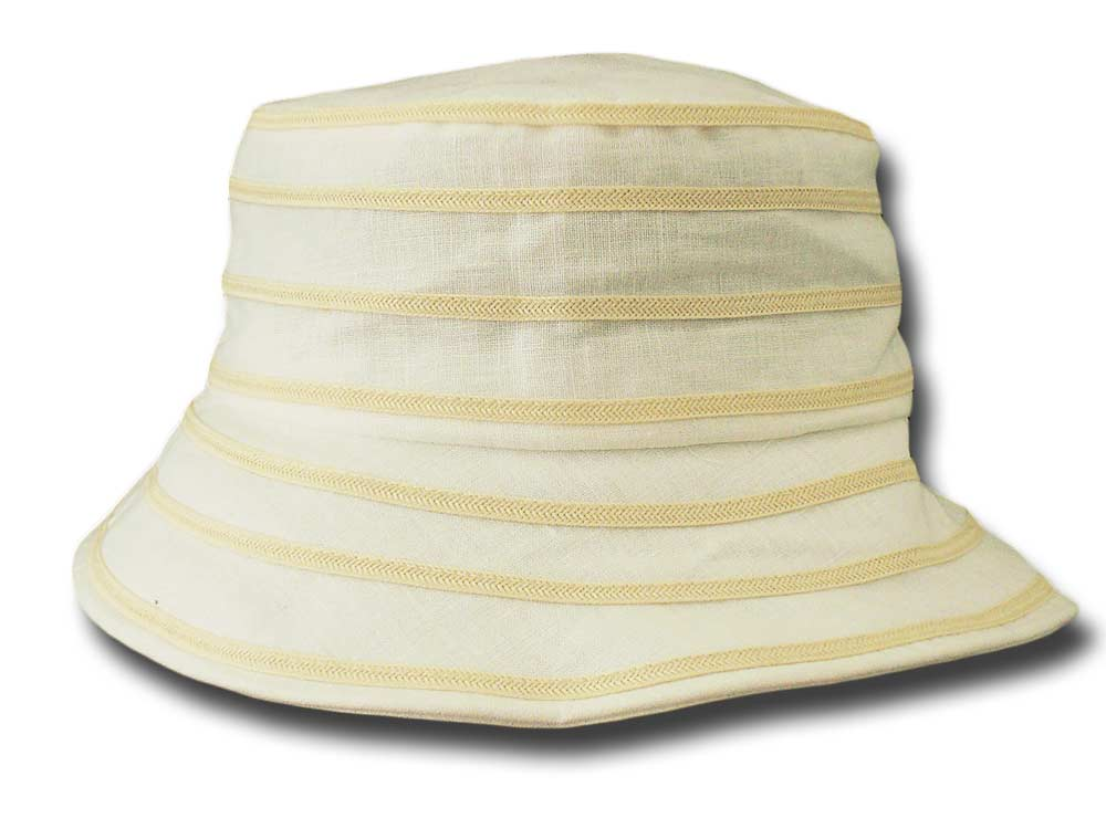 Melegari summer woman linen cloche hat Artemis