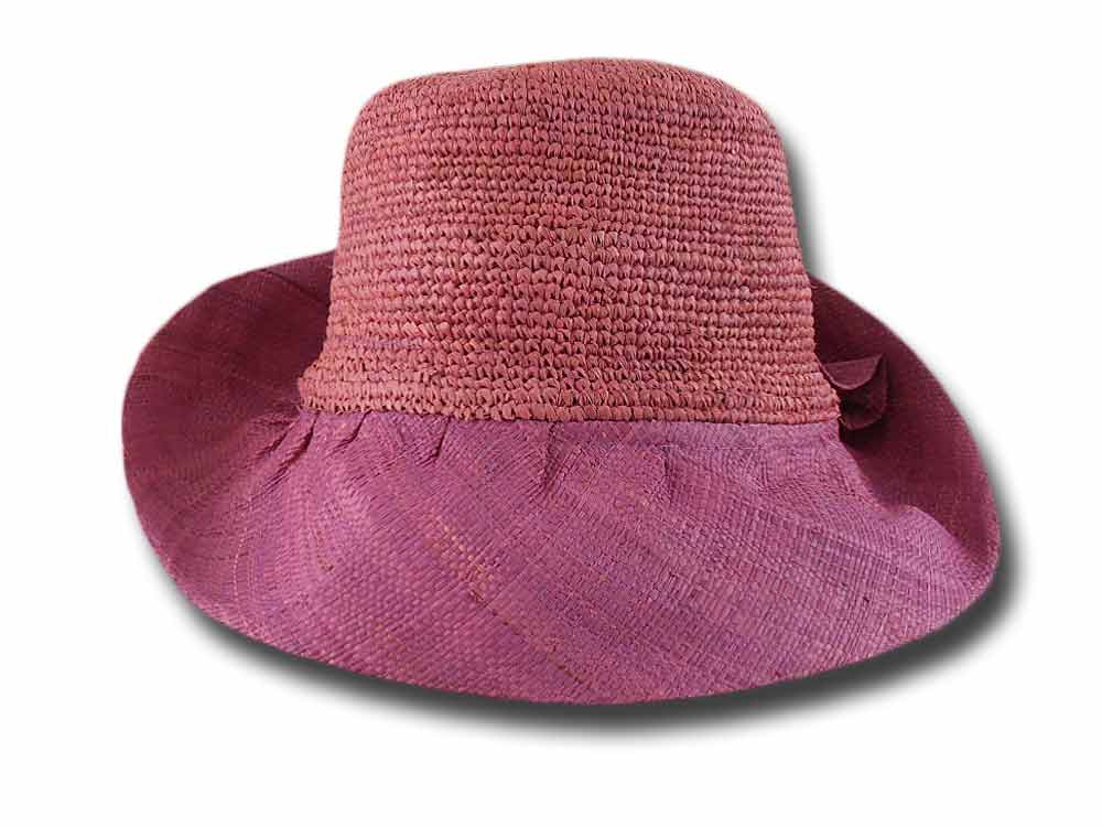 Melegari Crochet summer hat woman Raphia Escal