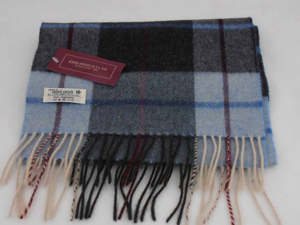 John Hanly Lambswool Irish tartan scarf 5