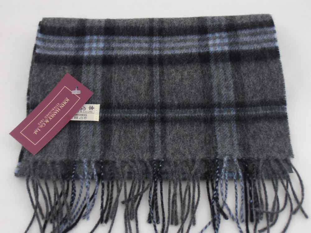 John Hanly Lambswool Irish tartan scarf 23