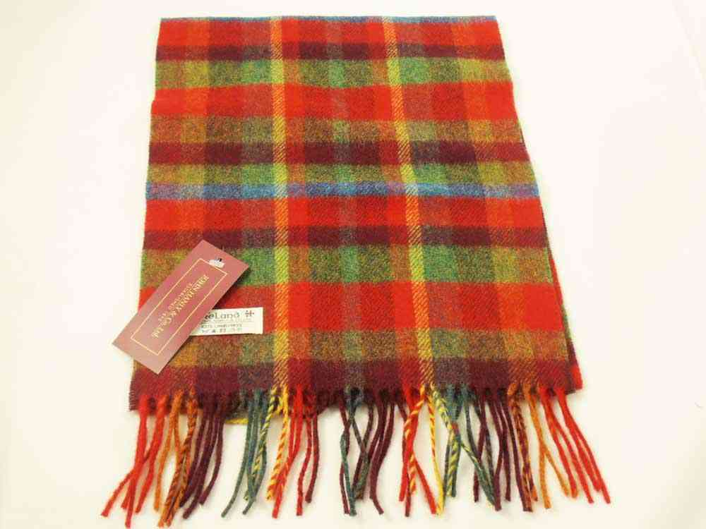 Lambswool Irish tartan scarf J.Hanly 26