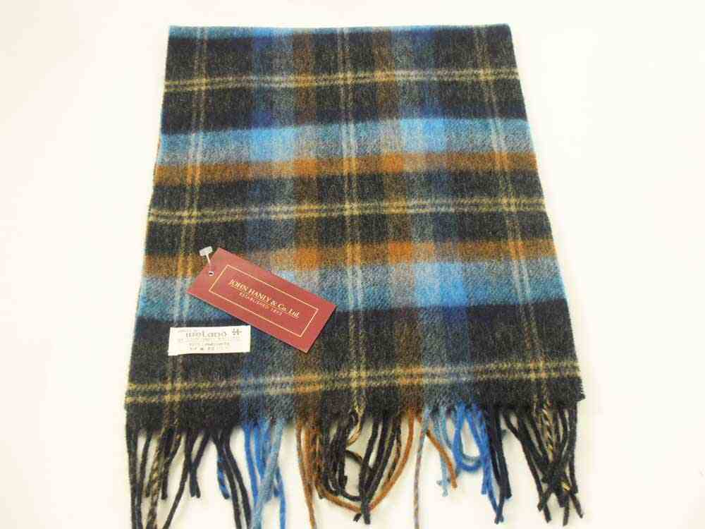 Lambswool Irish tartan scarf J.Hanly 27
