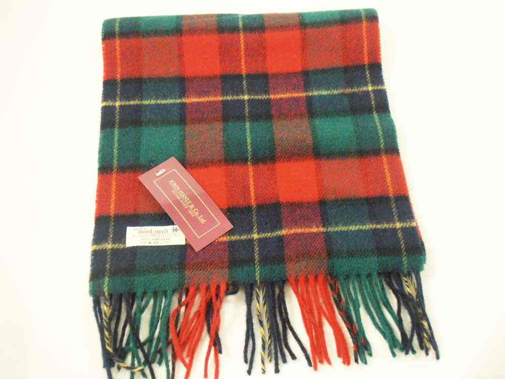 Lambswool Irish tartan scarf J.Hanly 2