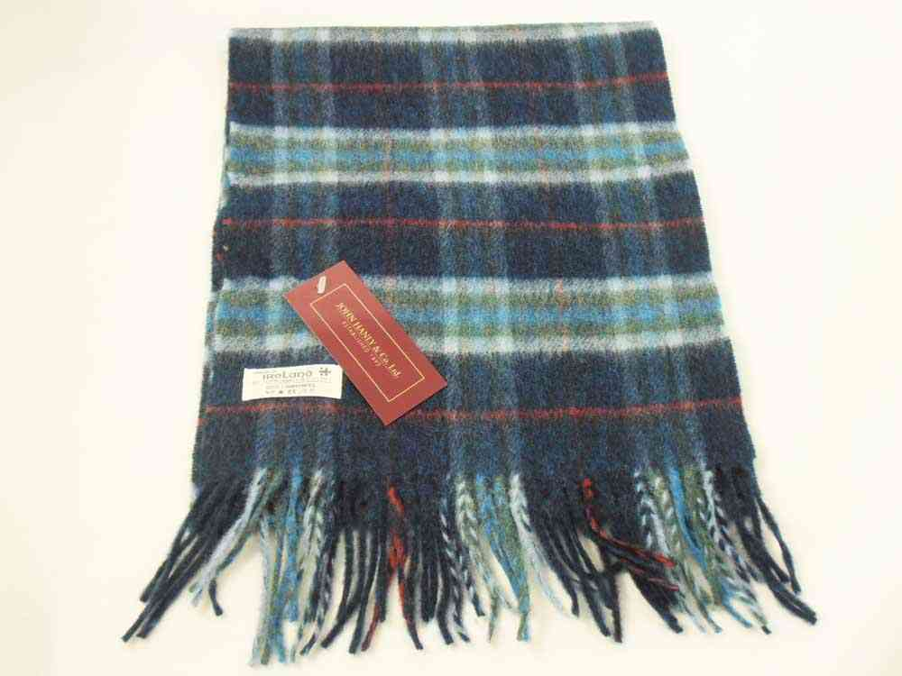 Lambswool Irish tartan scarf J.Hanly 25