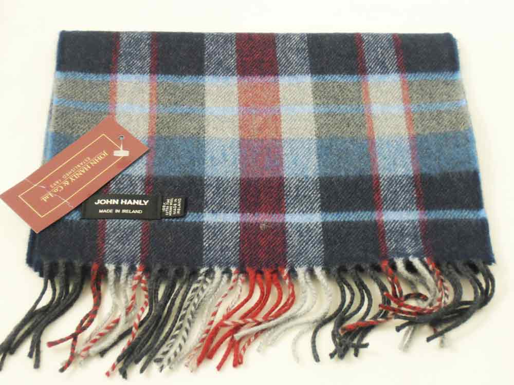Merino wool Irish tartan scarf J.Hanly 15
