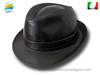 Italian traditional Pork Pie Jazz Melegari faux leater Hat