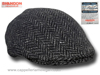 Flat cap Curragh fishbone Irish tweed