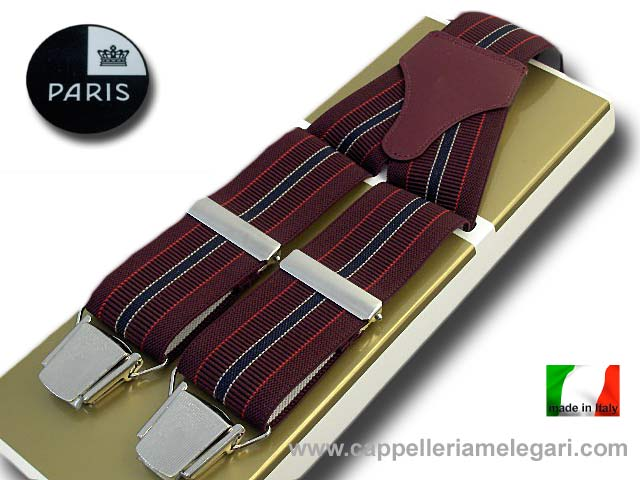 Braces wide men's Paris Regimental Two-tone da