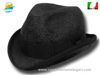 Natural straw Homburg Hat