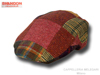 Kids patchwork flat tweed cap