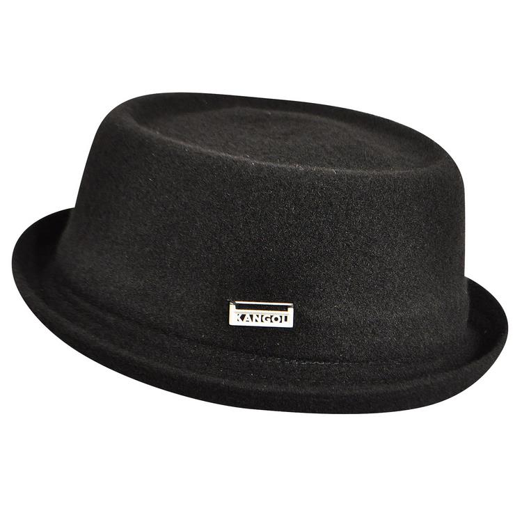 Kangol Porkpie Mowbray Wolle hut schwarz