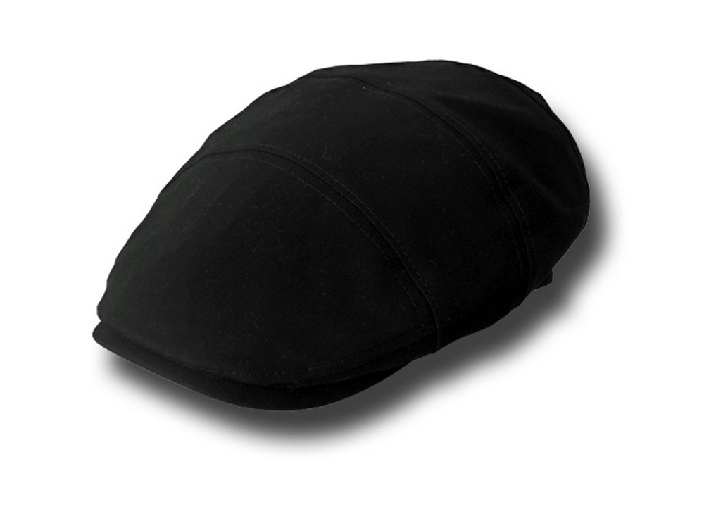 Cotton summer men's Bristol cap Black