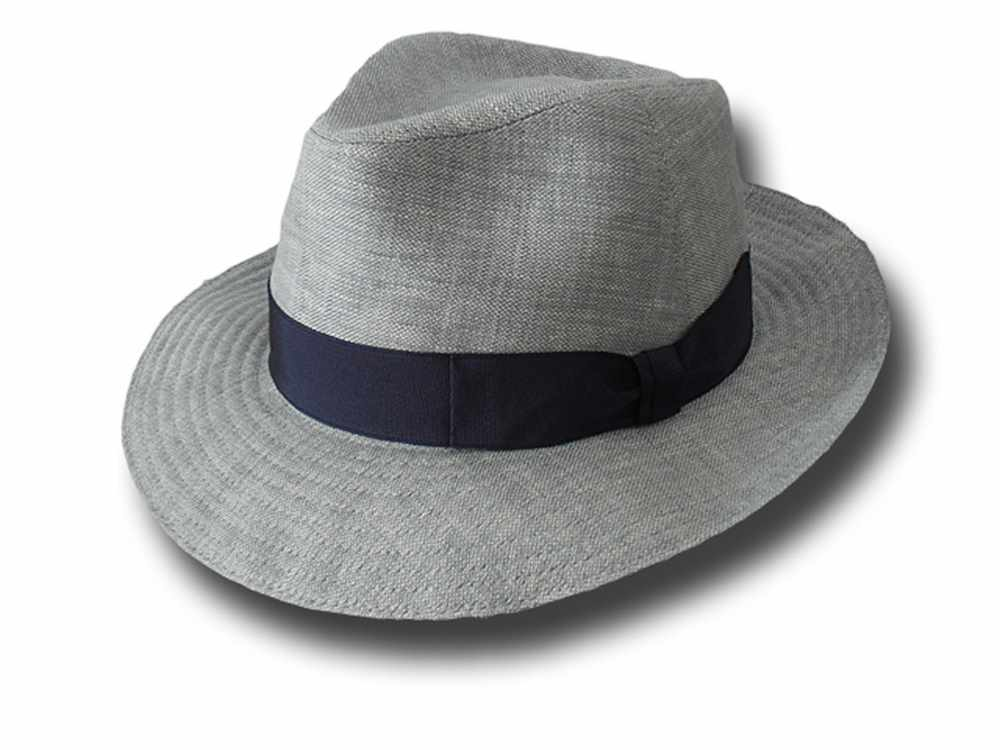 linen Bogart Hat light Grey