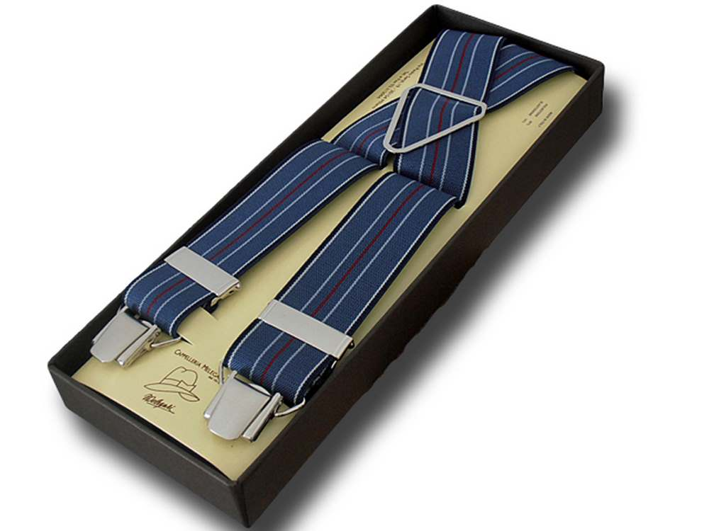 Bretelle uomo donna larghe 3,6 cm Regimental 09
