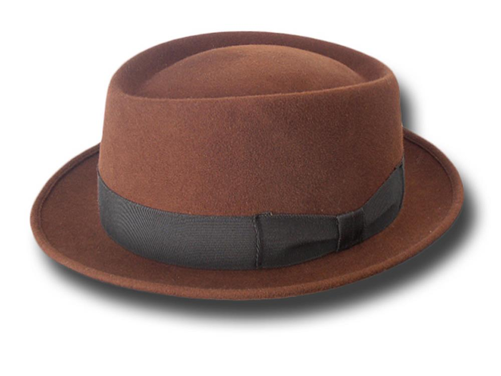 Cappello Pork Pie New Orleans Hat Marrone