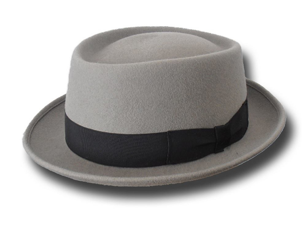 Cappello Pork Pie New Orleans Hat Grigio chiar