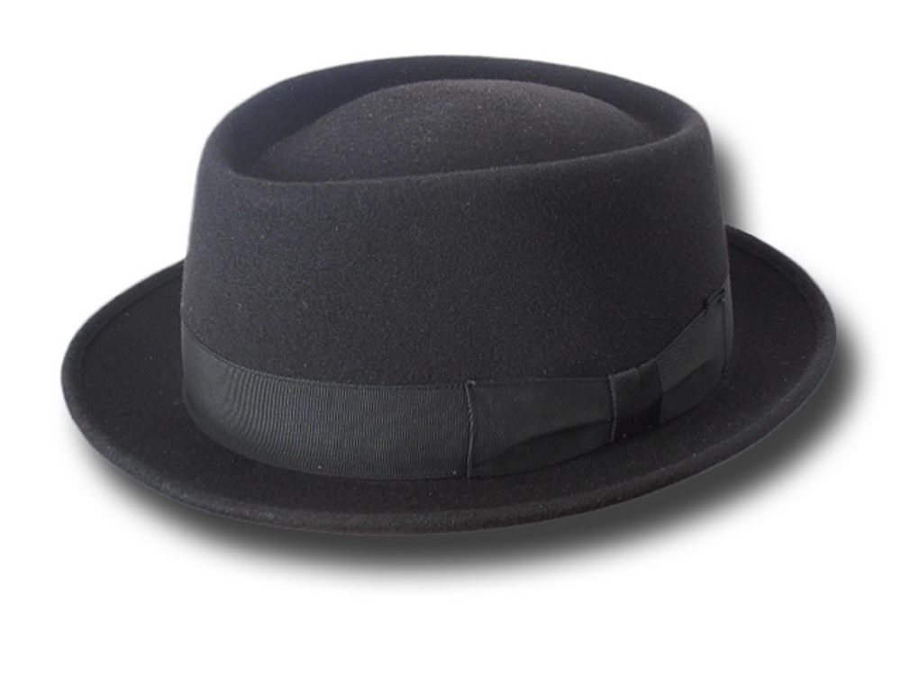 Cappello Pork Pie New Orleans Hat Nero