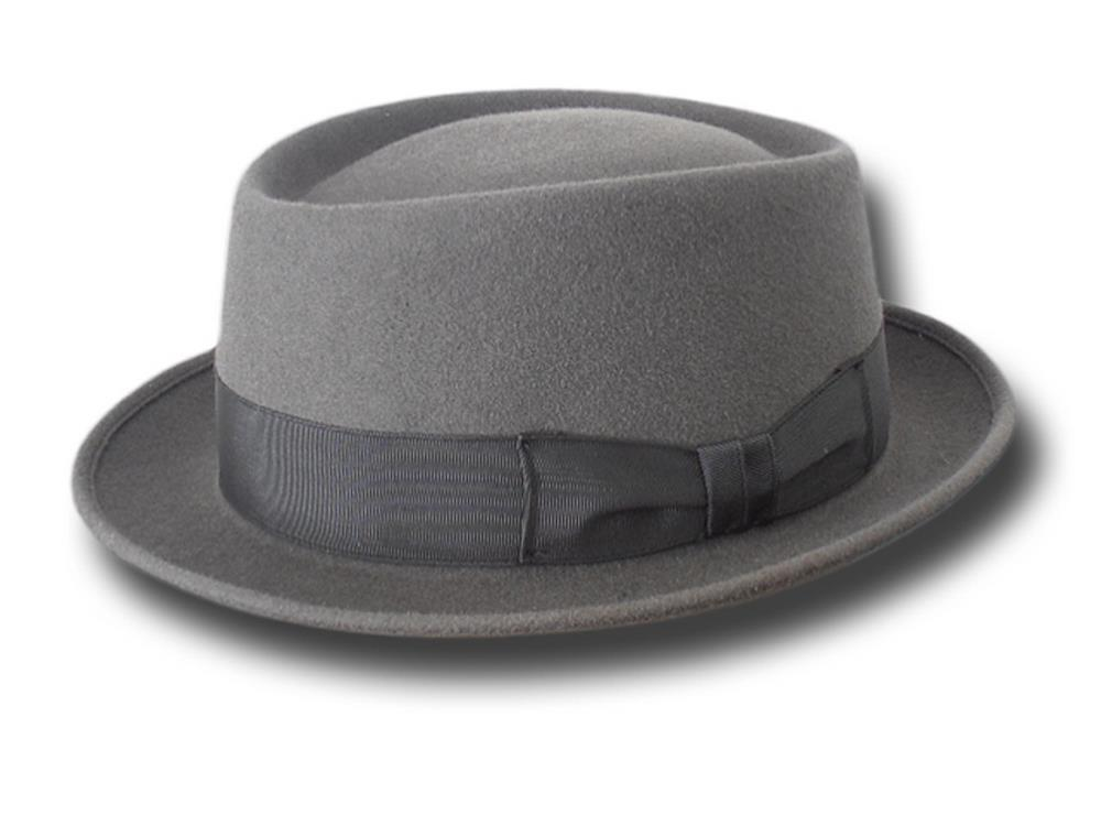 Melegari Pork Pie New Orleans Hat Medium gray