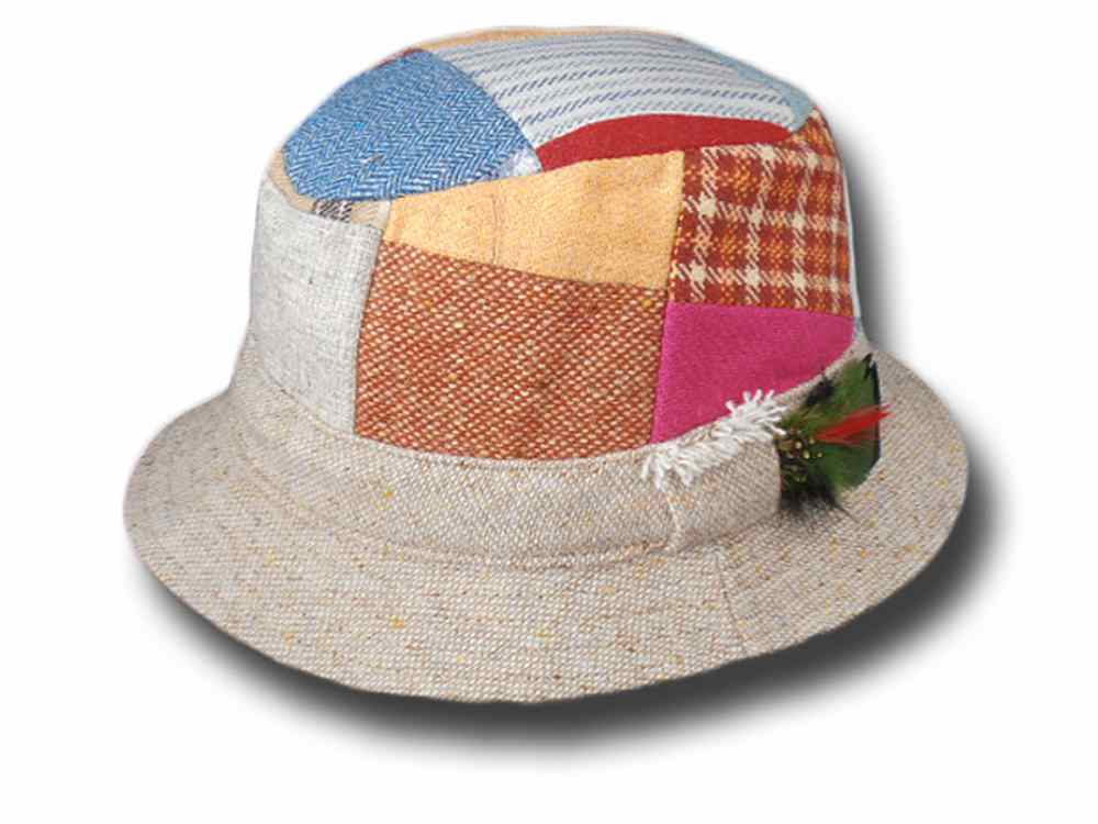 Irish Patchwork Hat Hanna Hats Tweed Wandern H