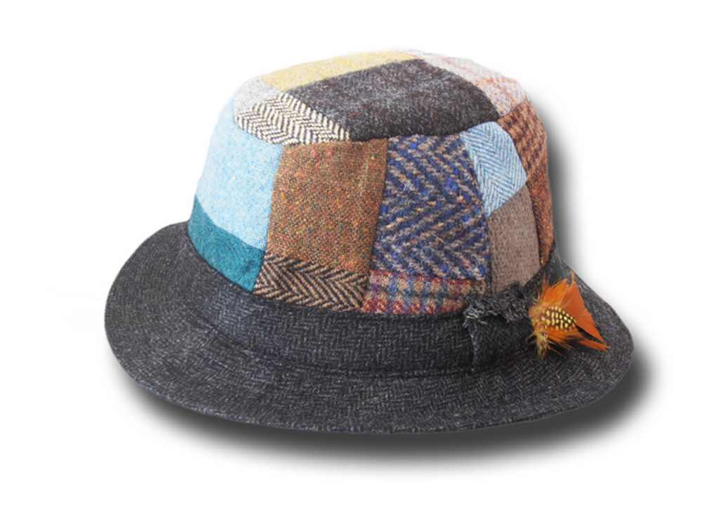 Hanna Hats Irish Patchwork Tweed Walking Hat