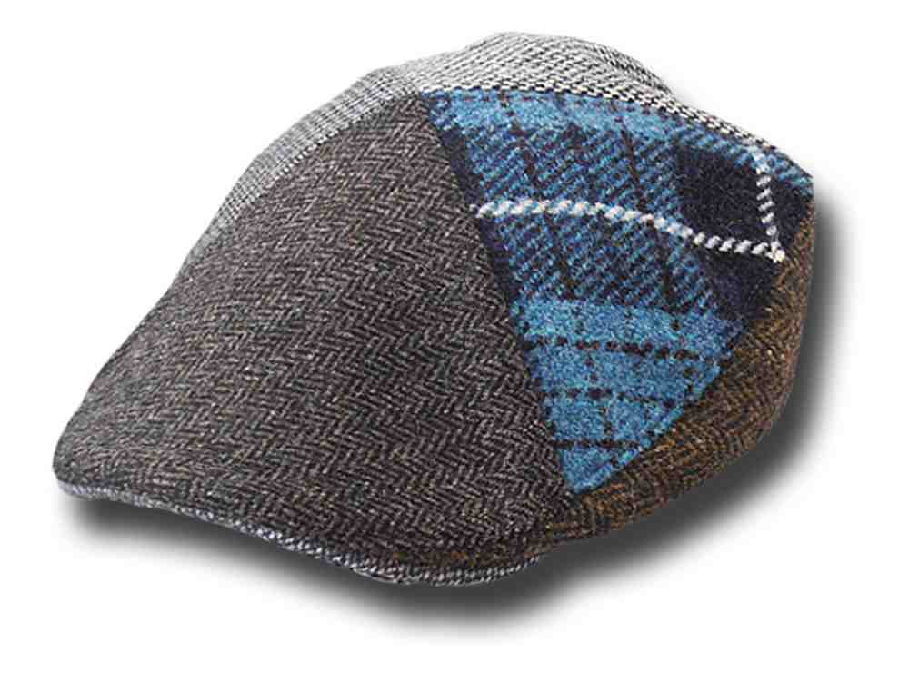 Berretto piatto irlandese Hanna Hats Touring 4 Diamond patchwork