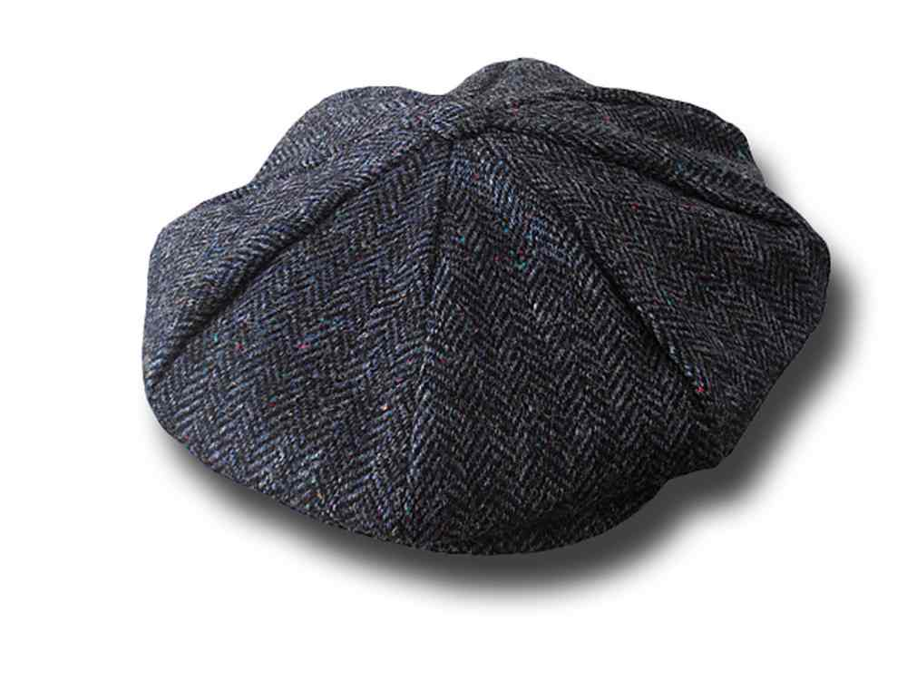 Hanna Hats Gatsby tweed cap 8 pieces fishbone