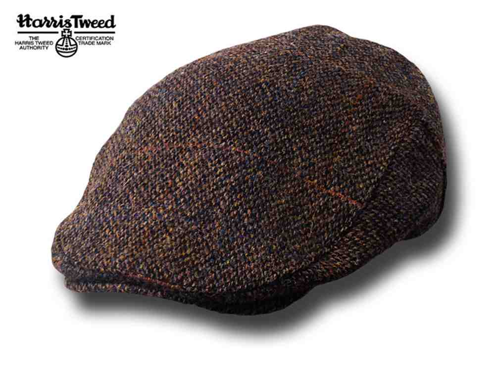Berretto piatto Highlands Harris Tweed