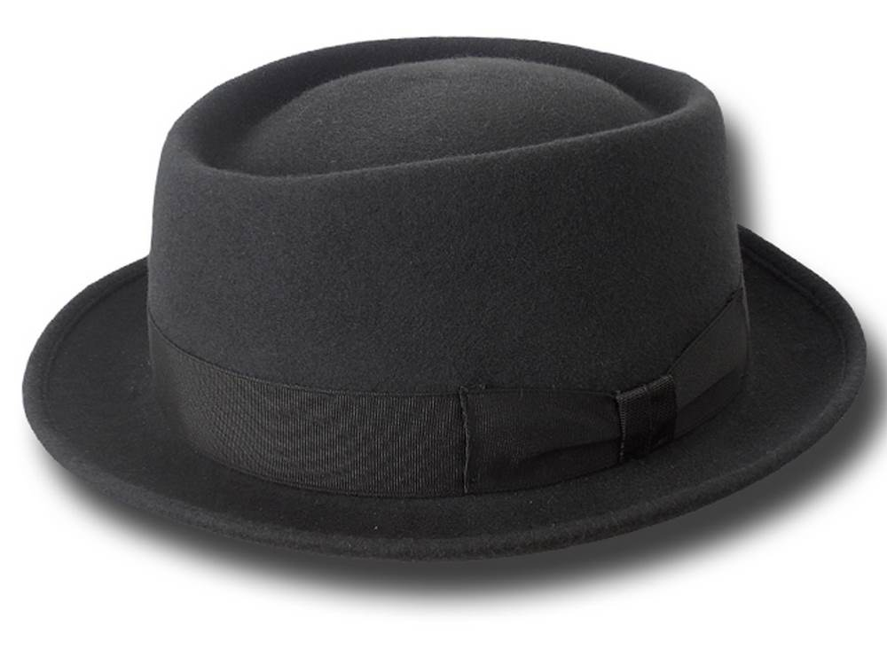 Cappello Pork Pie New Orleans Hat Grigio scuro