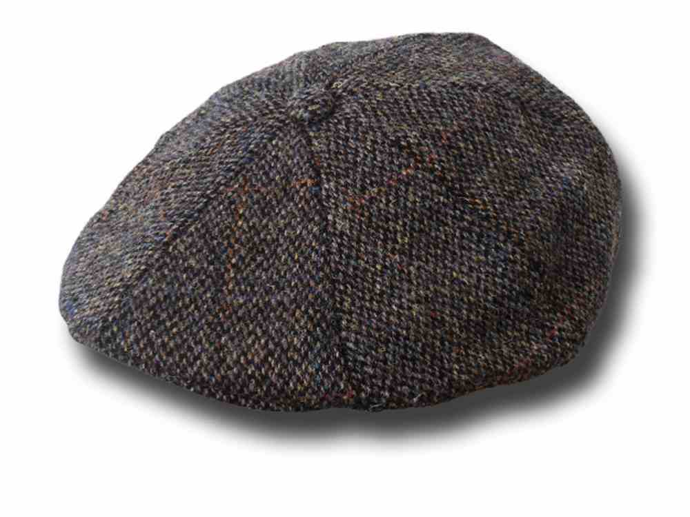 Heather Berretto Aran Harris Tweed Gatsby Cap