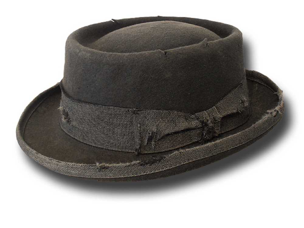 Melegari Pork Pie Stone Hat Grey