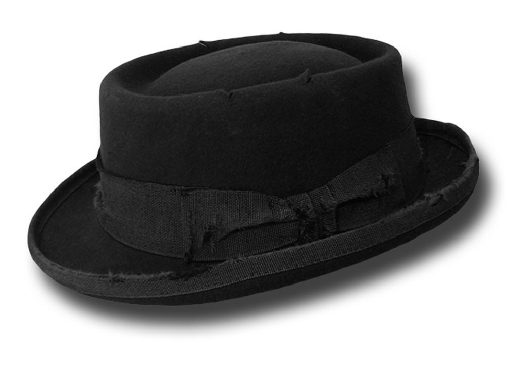 Cappello uomo Pork Pie Stone Hat Nero
