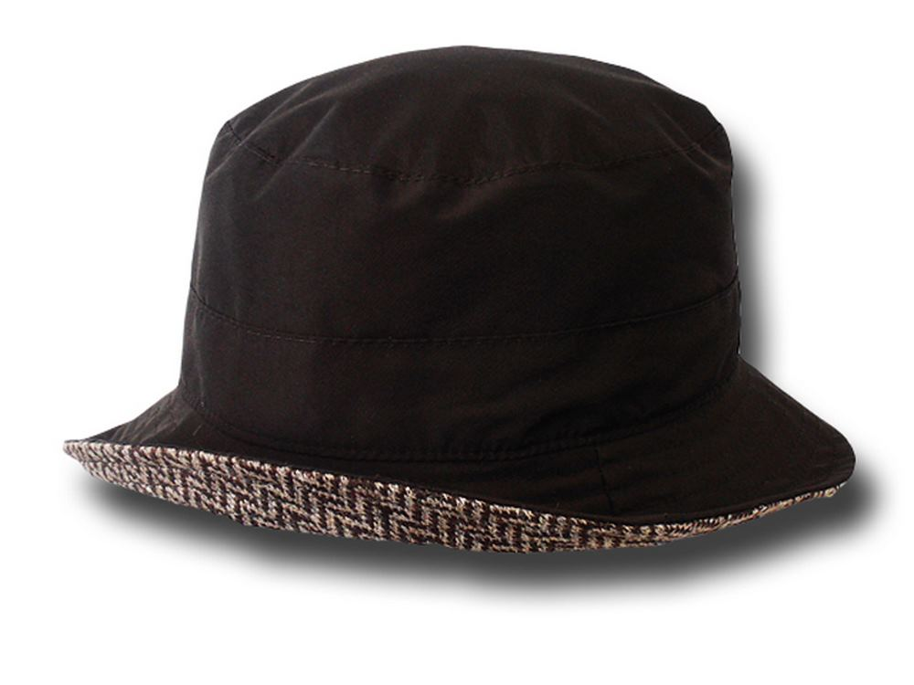 Melegari Waterproof pocket hat Reverse Brown