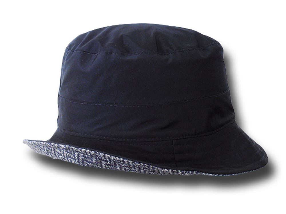 Melegari Waterproof pocket hat Reverse blue