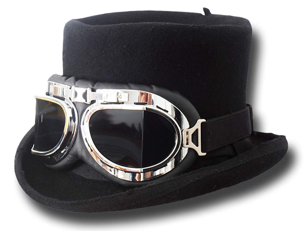 Top Hat Wool Stone Goggles Hat