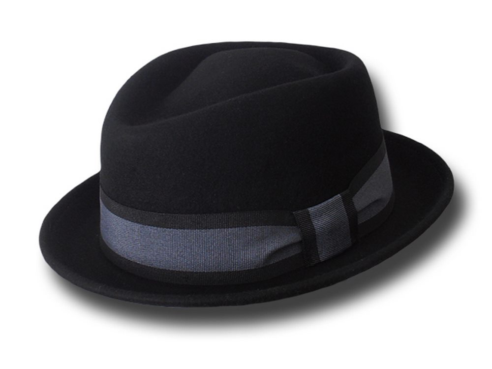 Cappello Melegari Hat Pork Pie Jazz Charles Hat stripe